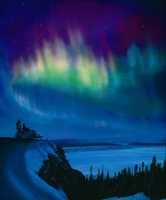 Aurore boréale                            Labrador, Terre-Neuve, Canada