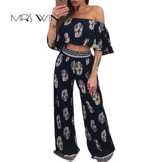 a55dbce4d0 Mrs win 2017 summer Women Clothes Print White Plus Size Jumpsuit Black  short slevee Feminino A
