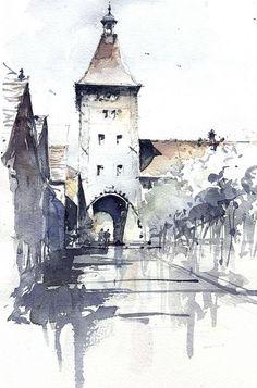 Architectural Sketches - tony belobrajdic, via Flickr: