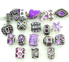 Ten (10) of Assorted Shades of Purple Crystal Rhinestone Beads  Charms Spacers for Bracelets Fits Pandora, Biagi, Troll, Chamilla and Many Others by Elizabeth Charms - See more at: http://blackdiamondgemstone.com/jewelry/charms/ten-10-of-assorted-shades-of-purple-crystal-rhinestone-beads-styles-you-will-receive-are-shown-in-picture-random-10-beads-mix-charms-spacers-for-bracelets-fits-pandora-biagi-troll-chamilla-and-many-ot/#!prettyPhoto