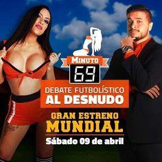 No te pierdas el gran estreno de #minuto69 este sábado por www.dln.la @desnudando.la. Donde el fútbol nunca había sido tan erótico