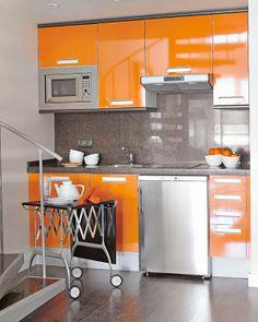 cozinha do apartamento de alto padrão