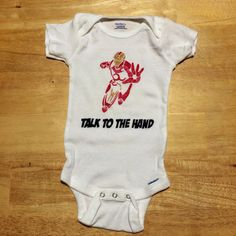 Marvel Superhero Iron Man Onesie on Etsy, $12.00