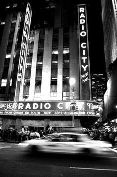 Radio City Music Hall Black and White New York by EmmaleePhoto,