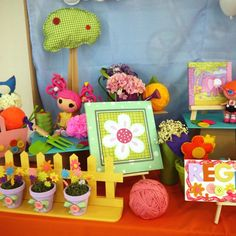 So many cute decorations at this Lalaloopsy Party!  See more party ideas at CatchMyParty.com!  #lalaloopsy #partyideas