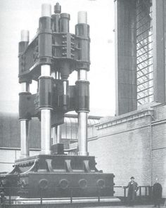 """Walter Gropius, Deutcher Werkbund Exhibition, """"Demonstration Machine"""", 1914"""