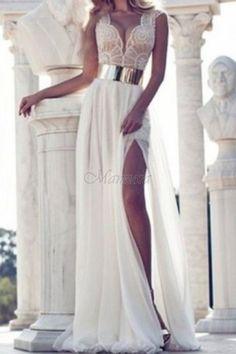 SPOLOČENSKÉ ŠATY ANITA biele - ELEGANTNÉ ŠATY - Šaty Formálne Šaty 80ddce2cbb1