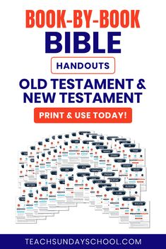 Bible Handouts for Each Book in the Bible (Old & New Testaments) An Awesome tool for Sunday School, Youth Group, Bible Study, etc. Bible Study Lessons, Bible Study Plans, Bible Study Guide, Bible Study Tools, Scripture Study, Object Lessons, Bible Knowledge, Bible Activities, Bible Teachings