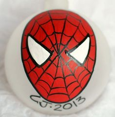 Personalized Hand painted Spider-Man Christmas ornament
