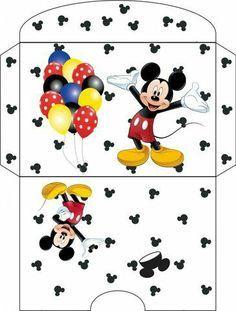 printable envelope for mickey mouse party Theme Mickey, Mickey Birthday, Mickey Minnie Mouse, Disney Crafts, Disney Fun, Gift Wraping, Printable Box, Diy Envelope, Writing Paper