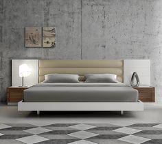J & M Lisbon Premium Bedroom Platform Bed 17871 | Modern Bedroom Furniture