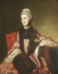 This portrait is attributed to Johann Zoffany.  It may be Mary Lepel (1700–1768), Lady Hervey, in Old Age, but doesn't look her, and was previously called Lady Mary Fitxgerald.