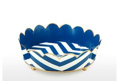 Chevron Round Vanity Tray, Navy on OneKingsLane.com