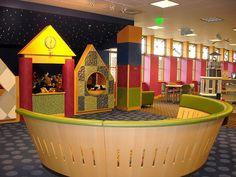 Clinton-Macomb Public Library in Macomb, MI Library Themes, Library Art, Kids Library, Library Ideas, School Library Design, Mi Photos, Birthday Party Venues, Franklin Lakes, Inclusion Classroom