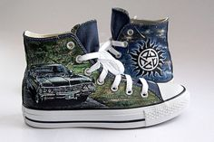 Customized painted converse shoes hand painted by atelierChloe