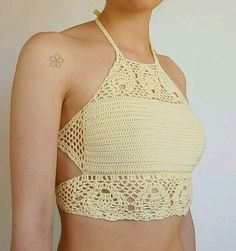 """Crochet Top Patterns Ravelry: The """"TROPICAL"""" crop top _ crochet pattern by Melissa Flores - This is the """"TROPICAL"""" crop top Crochet Pattern a boho lace festival top. Boho Crochet, Crochet Bikini Top, Crochet Blouse, Crochet Shorts, Festival Tops, Top Pattern, Crochet Clothes, Bikini Tops, Crochet Patterns"""