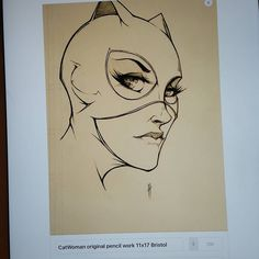 Catwoman original piece is also available. Link in my bio by henrytheartistiam