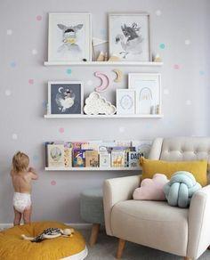 Cutest little munchkin helping mommy put up wall decals in her nursery #nursery #nurserydecor #nurseryart #nurseryideas #interiordesignideas inimal #design #designinspiration #interiordesign #interiordesignideas #babygirl #girlsroom