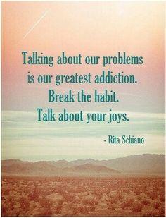 Change the conversation :)