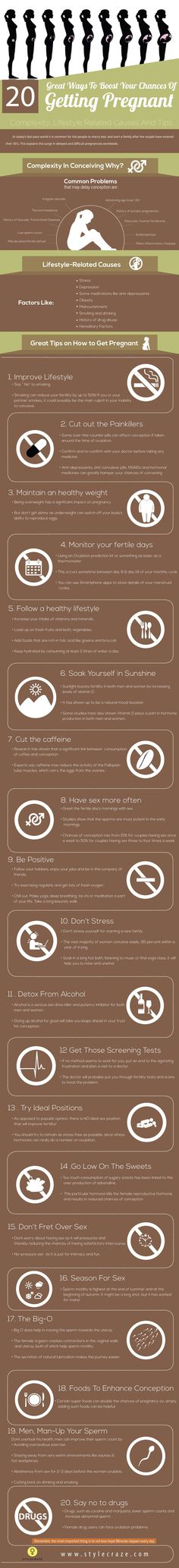 20 Great Tips To Improve Your Chances Of Getting Pregnant #PregnancyTips