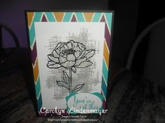 Carolyn's Card Creations: Another Bohemian You've Got This Card