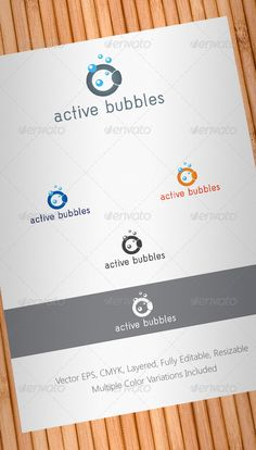 Active Bubbles Logo Template #GraphicRiver Simple, clean and modern Cleaning Company or Cleaning Products logo template. Simple to work with and highly customizable, it ca be easily adjusted to fit your needs. High quality fully layered and fully editable vector EPS , easy to change colors and adjustable to any size. CMYK , multiple color variations included. Font used is Acid. Details in the Help file. You may also be interested in: Stationery Package – graphicriver…