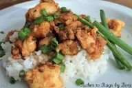 Homemade Kung Pao Chicken. Delicious and easy recipe. Serve over sticky white rice.This is a very delicious Chinese food recipe. The flavor is really good and it is really simple to make. I used less crushed red peppers than the recipe called for so my kids would eat it. Make it as spicy or mild as you like