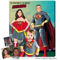 Superhero™ (13x13 inch) - Custom pictures in canvas from your photos