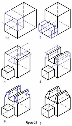 Tazado deperspectivas Isométricas Isometric Drawing Exercises, 3d Drawing Techniques, Orthographic Drawing, Cat Drawing Tutorial, Architecture Drawing Sketchbooks, Interesting Drawings, Perspective Drawing, Technical Drawing, Sketch Design