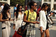 Street Style at New York Fashion Week Spring 2014 Photo By Steve Eichner