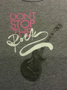 ~ Aeropostale Juniors Rock Guitar Music Gray BabyTee Shirt Size S ~EUC