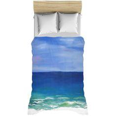 Bed Duvet Covers, Pillow Shams, White Duvet Bedding, Tiki Hut, Types Of Beds, Artwork Display, Queen Duvet, Coastal Homes, Beach Themes