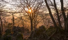 https://flic.kr/p/QDhnRu | Winter impressions of Schwarzer Brand N°4 | This picture was merged from 2 single hand held shots taken at sunset at a viewpoint above Hohenglücksteig, Schwarzer Brand.