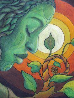 The Awakening Drawing by Kimberly Kirk - The Awakening Fine Art Prints and Posters for Sale Goddess Art, Nature Drawing, Sacred Feminine, Inspiration Art, Arte Pop, Sacred Art, Art Plastique, Mother Nature, Awakening
