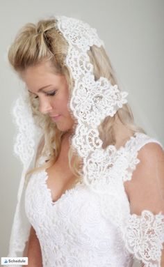 Gorgeous bridal veils from Blanca Veils