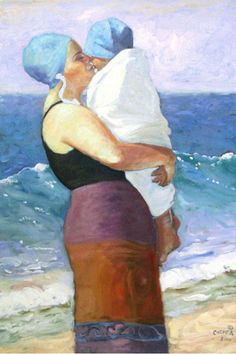 "Beth Carver ~ ""Blue Wave Kiss on the Coast"" Seaside Art, Coastal Art, Big Kiss, Water Art, Beach Scenes, Beach Pictures, Art Plastique, Painting Inspiration, Virgin Mary"