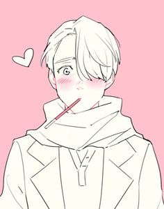 Yuri on Ice / Victor Nikiforov - Anime Thing Yuri Plisetsky, Fanarts Anime, Manga Anime, Yuri On Ice Victor, Pocky Game, Otaku, Yuri!!! On Ice, Katsuki Yuri, Victor Nikiforov