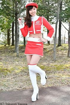 White Leather Boots, White Boots, Asian Woman, Asian Girl, Asian Fashion, Women's Fashion, Pit Girls, Tiny Shorts, Promo Girls
