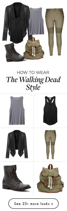 """""""Walking dead inspired"""" by rachaelthompson on Polyvore featuring 2 Lips Too, City Chic, Wet Seal, Athleta and Monki"""