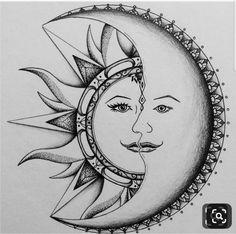 Best ideas for tattoo moon mandala design Mandala Art, Mandala Design, Mandala Drawing, Mandala Tattoo, Doodle Art Drawing, Cool Art Drawings, Pencil Art Drawings, Art Drawings Sketches, Nature Drawing