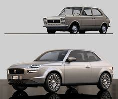 Designer Reimagines Fiat 127 for the 21st Century as the 500's Big Brother - Carscoops