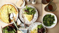 Recipe of the Day: Green Chile & Zucchini Quiche  Save the recipe 👍 Vegetarian Cheese, Vegetarian Recipes, Zucchini Quiche Recipes, Whole Grain Wheat, Monterey Jack Cheese, Pie Plate, Original Recipe, A Food, Chile