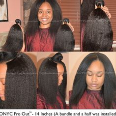 #ONYCHair #TT to a #protectivestyle of this #ONYCBeauty with her #ONYC Fro-Out #hair.  Get a little extra volume and length in your life!   Shop US Now>>> ONYCHair.com Shop UK Now>>> ONYCHair.uk Shop NG Now>>> ONYCHair.ng  #froout #throwbackthursday #kinkystraight