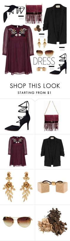 """""""Winter Dresses Under $100"""" by hamaly ❤ liked on Polyvore featuring River Island, Oscar de la Renta, Louis Vuitton, outfit, ootd, dresses and under100"""