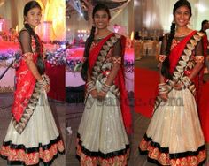 Brasso Glitter Half Sari | Saree Blouse Patterns