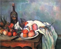 Paul Cézanne (1839-1906)    Still Life with Red Onions