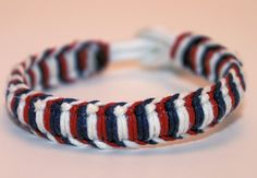Independence Day Fourth of July Wrapped 550 Paracord Bracelet