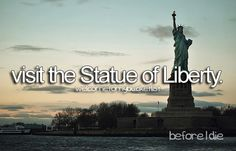 Visit the statue of liberty whilst touring America ...
