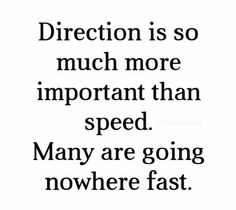 Direction vs Speed