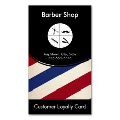 Barber Loyalty Business Card Punch